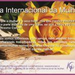 8 de MARÇO É DIA INTERNACIONAL DA MULHER!