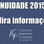 Anuidade de 2015: quem optou pelo parcelamento, deve quitar a última parcela até o dia 31 de maio