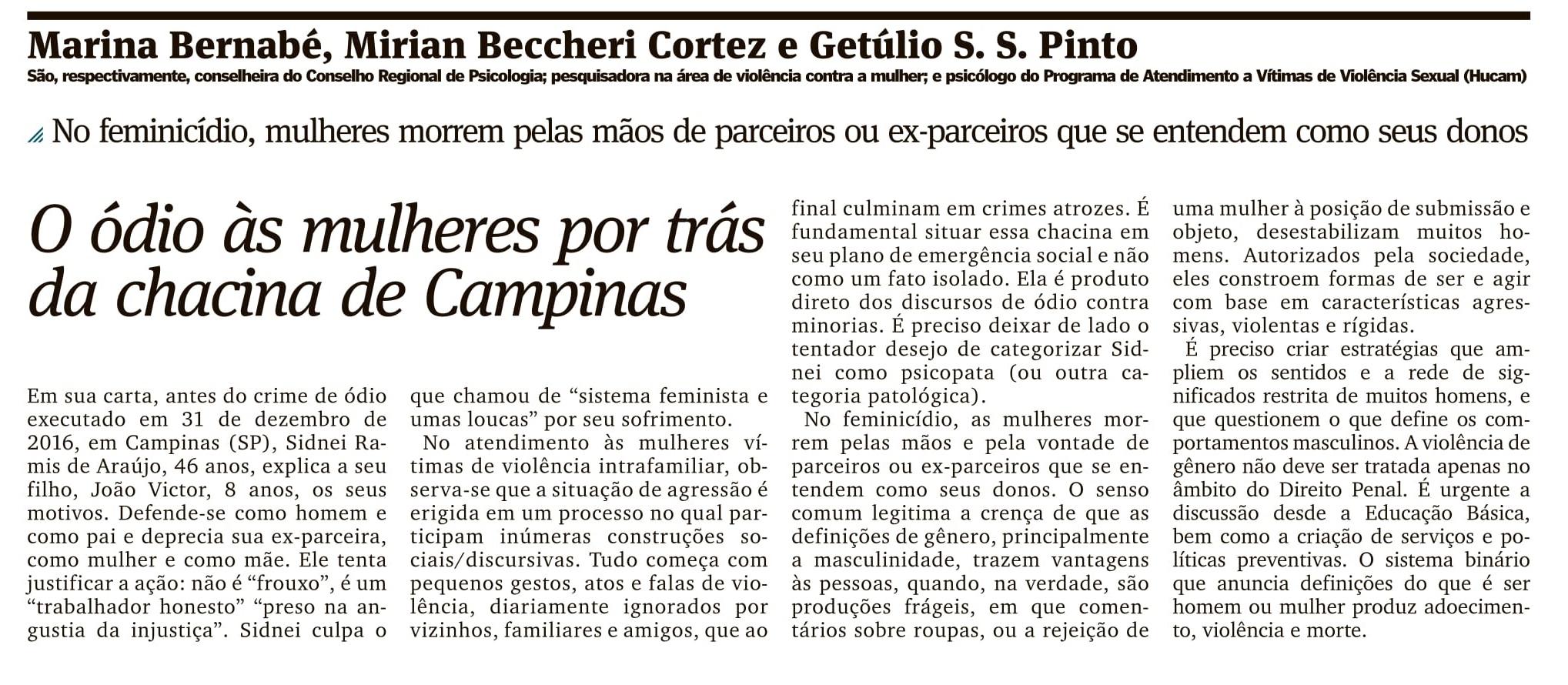 O ódio às mulheres por trás da chacina de Campinas_AG_OPINIÃO_PÁG 17_12.01.2017_1