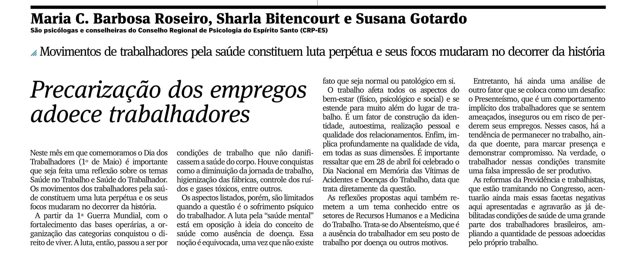 Precarização dos empregos adoece trabalhadores_AG_OPINIÃO_PÁG 17_23.05.2017-1