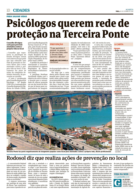 Psicólogos querem rede de proteção na Terceira Ponte_AG_CIDADES_PÁG 10_06.09.2016-1
