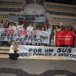 Protesto do Fórum Capixaba em Defesa da Saúde Pública marca o Dia Mundial da Saúde