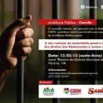 """CRP-16 participa da audiência pública """"A Não Redução da Maioridade Penal e a Defesa dos Direitos dos Adolescentes e Jovens da Serra"""""""