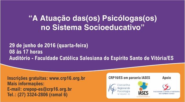 CRP-16 promove debate sobre atuação profissional no Sistema Socioeducativo