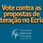 Vote contra a proposta de alteração no Ecriad em relação à adoção