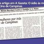 CRP publica artigo em A Gazeta: O ódio às mulheres por trás da chacina de Campinas