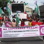 Marcha contra o machismo, o feminicídio e as reformas de Temer marca o 8 de março em Vitória
