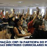 Ano de Formação: CRP-16 participa do processo de revisão das DCNs