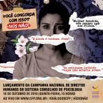 Sistema Conselhos de Psicologia lança campanha nacional de direitos humanos