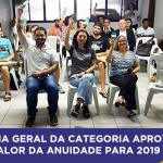 Assembleia Geral da categoria aprova o novo valor da anuidade para 2019