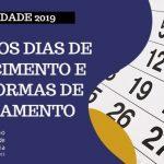 Anuidade 2019: segunda parcela e cota única (5% de desconto) vencem em 28 de fevereiro