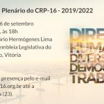 Próxima gestão do CRP-16 será empossada no dia 26 de setembro, na Assembleia Legislativa em Vitória