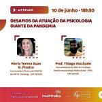 CRP-16 participa de seminário online da Multivix de Cachoeiro e Castelo