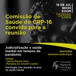 Comissão de Saúde faz debate sobre judicialização e saúde mental durante a pandemia