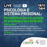 """CRP-16 faz debate sobre """"Psicologia e Sistema Prisional"""" em live nesta quinta, 19"""