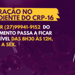 Expediente do CRP-16 na pandemia: Conselho retoma atendimento presencial mediante agendamento